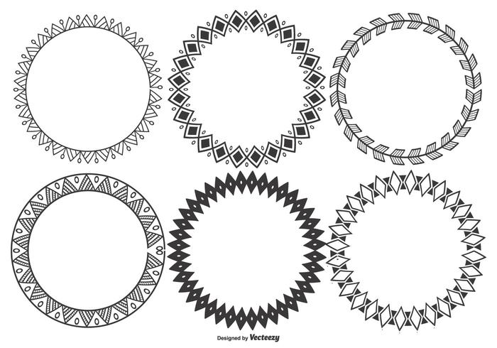Colección de marcos decorativos Vector Vector