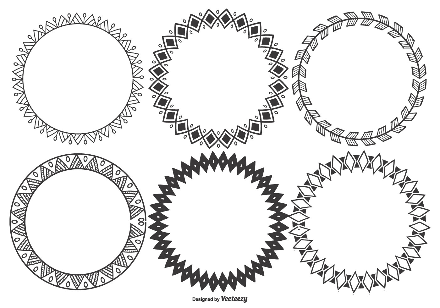 Round Vintage Frame Vector Collection stock vector art 508198611 ...