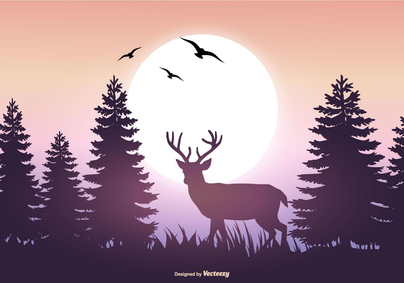 Landscape Illustration Vector Free: Beautiful Vector Landscape Illustration