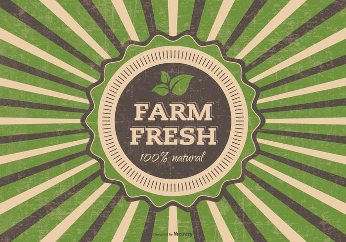 Grunge Farm Fresh Vector Illustration