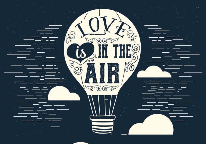 Love is in the Air Vector Air Balloon