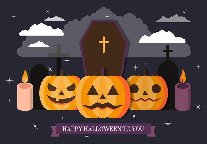 free spooky halloween vector illustration - Spooky Halloween Pictures Free