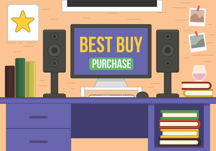 Online Purchase Desktop Vector Design