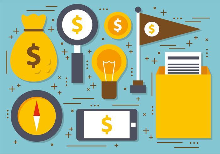 Flat Digital Marketing Vektor-Illustration