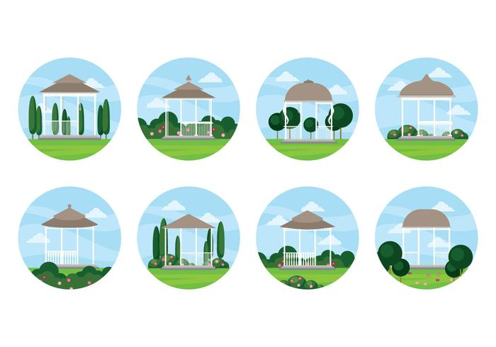 Free Wedding Gazebo Vector