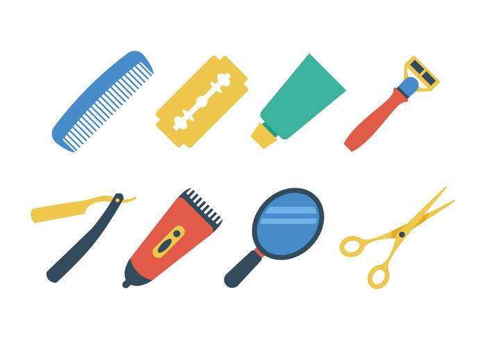 Free Barber Shop Icon Set