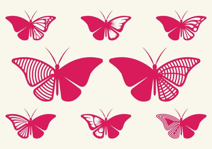 Cutout fjäril