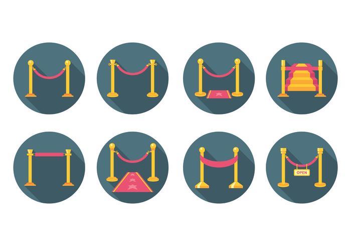 Free Flat Velvet Rope Vector