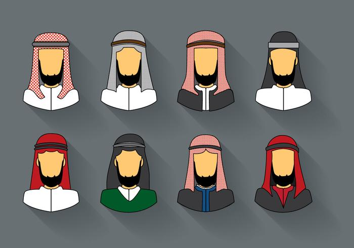 Libres árabe Hombre Keffiyeh Vector
