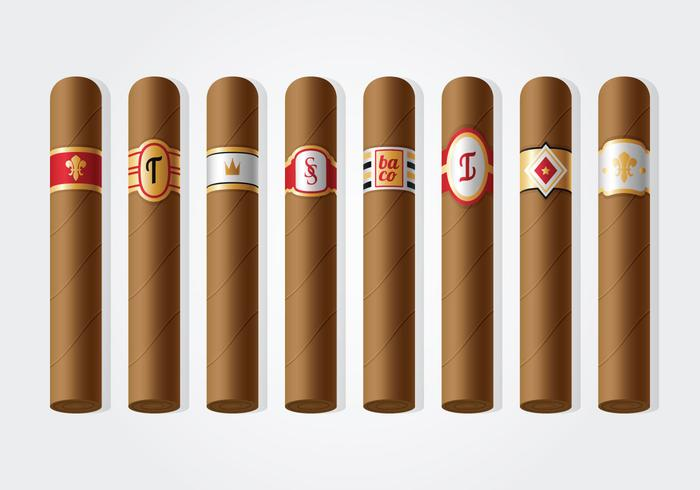 Free Cigar Label Vector