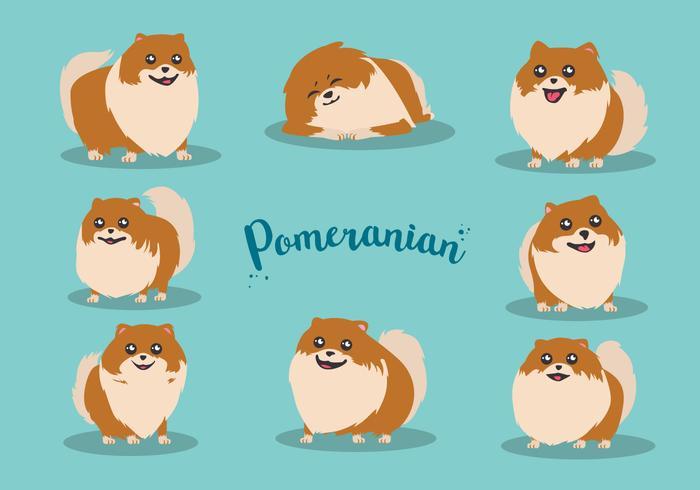 Free Cartoon Pomeranian Vector