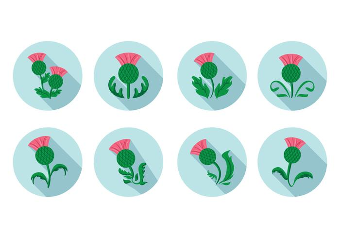 Free Flat Thistle Vector