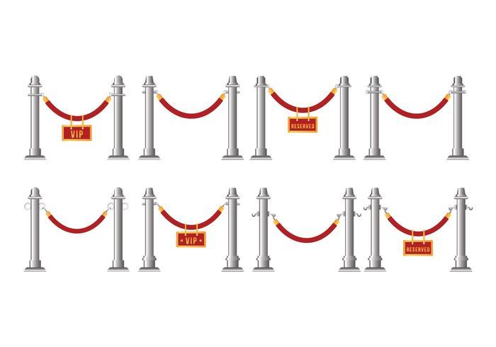 Vector de cuerda de terciopelo gratis