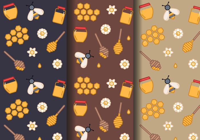 Free Honey Pattern Vector