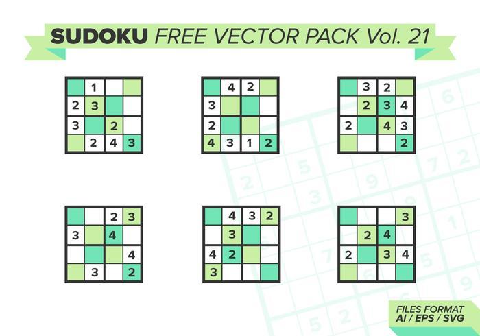 Sudoku Pack Vector Libre Vol. 21