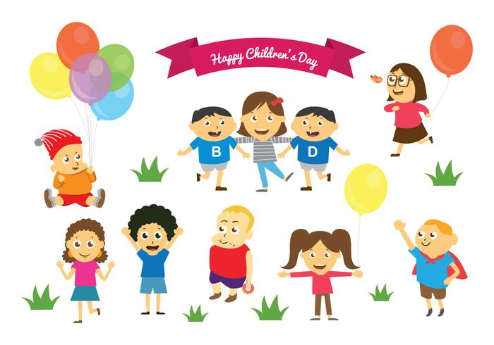 free happy childrens day vectors - Children Images Free