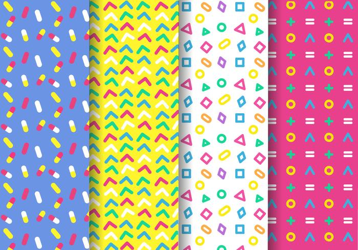 Free Memphis Pattern Vector