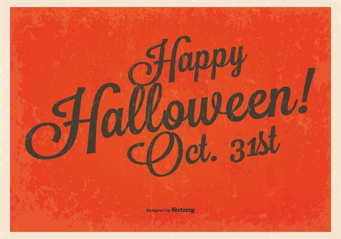 Vintage Glad Halloween Bakgrund