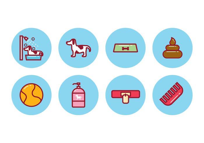 Conjunto de ícones de cães grátis