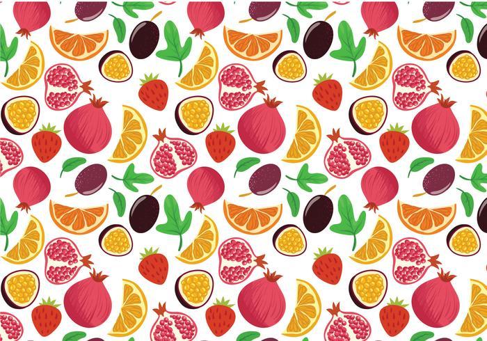 Libre de vectores de patrones de frutas