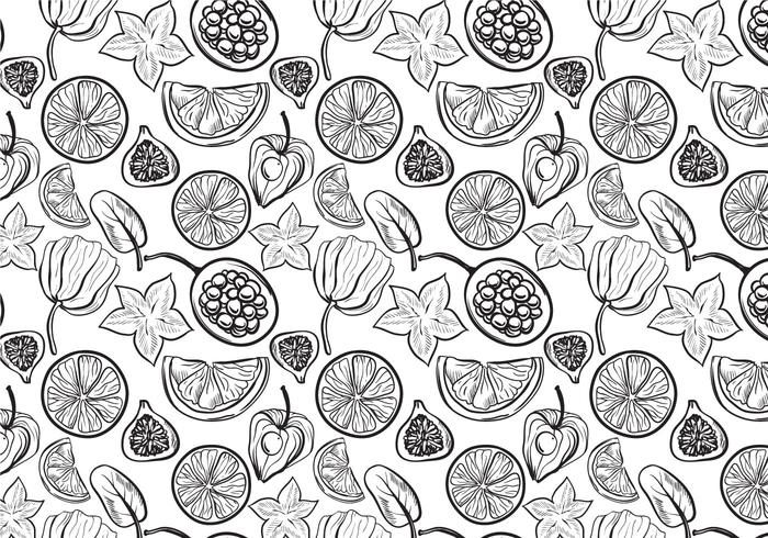 Free Fruit Pattern 2 Vectores