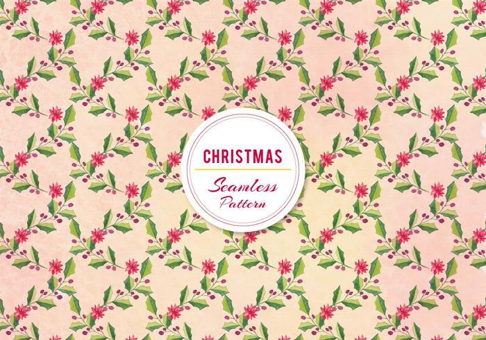 Vector de Navidad Holly patrón