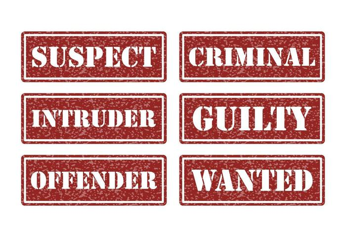 Criminal and Justice Vector Stamps