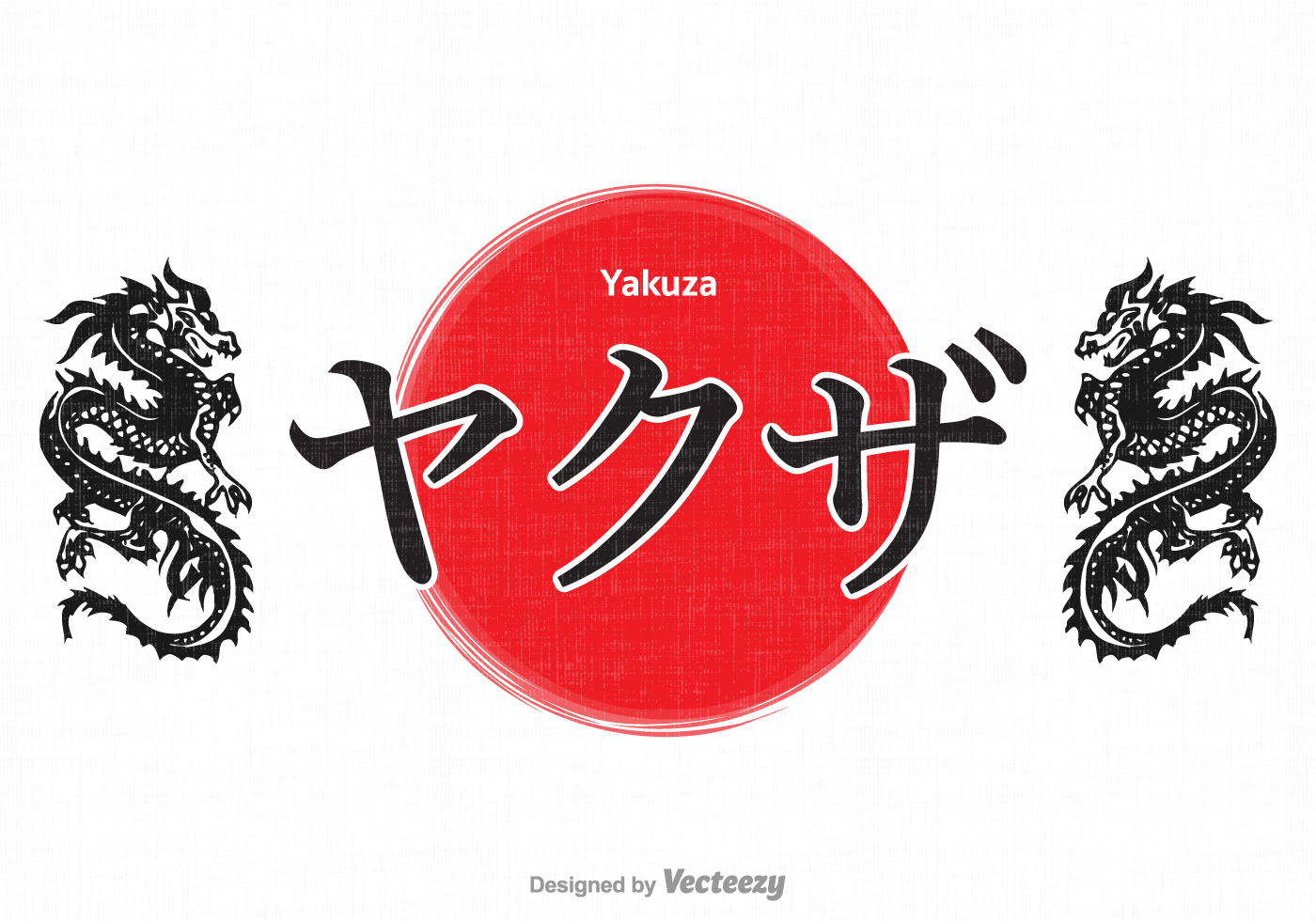 Free vector yakuza calligraphy design download