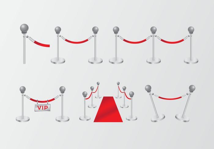 Cuerda de terciopelo rojo degradado de alta clase