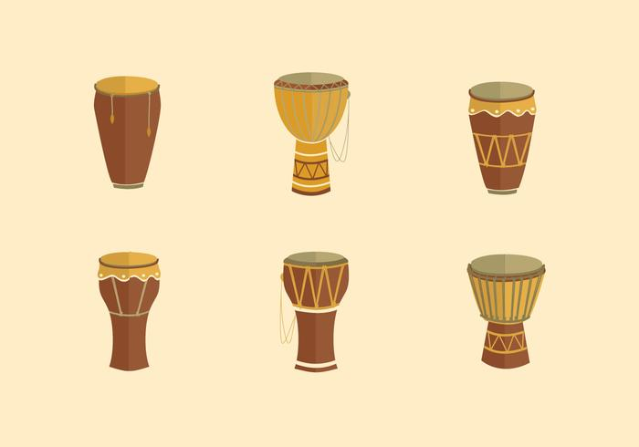 Taditional conga music instrument flat design