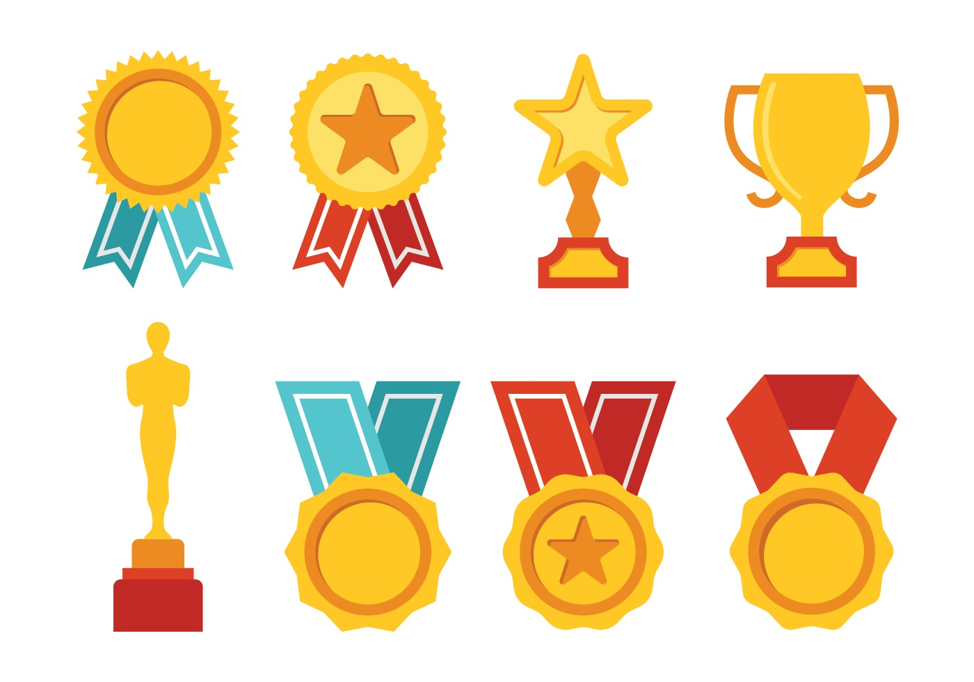 Award Icon Set Download Free Vector Art Stock Graphics