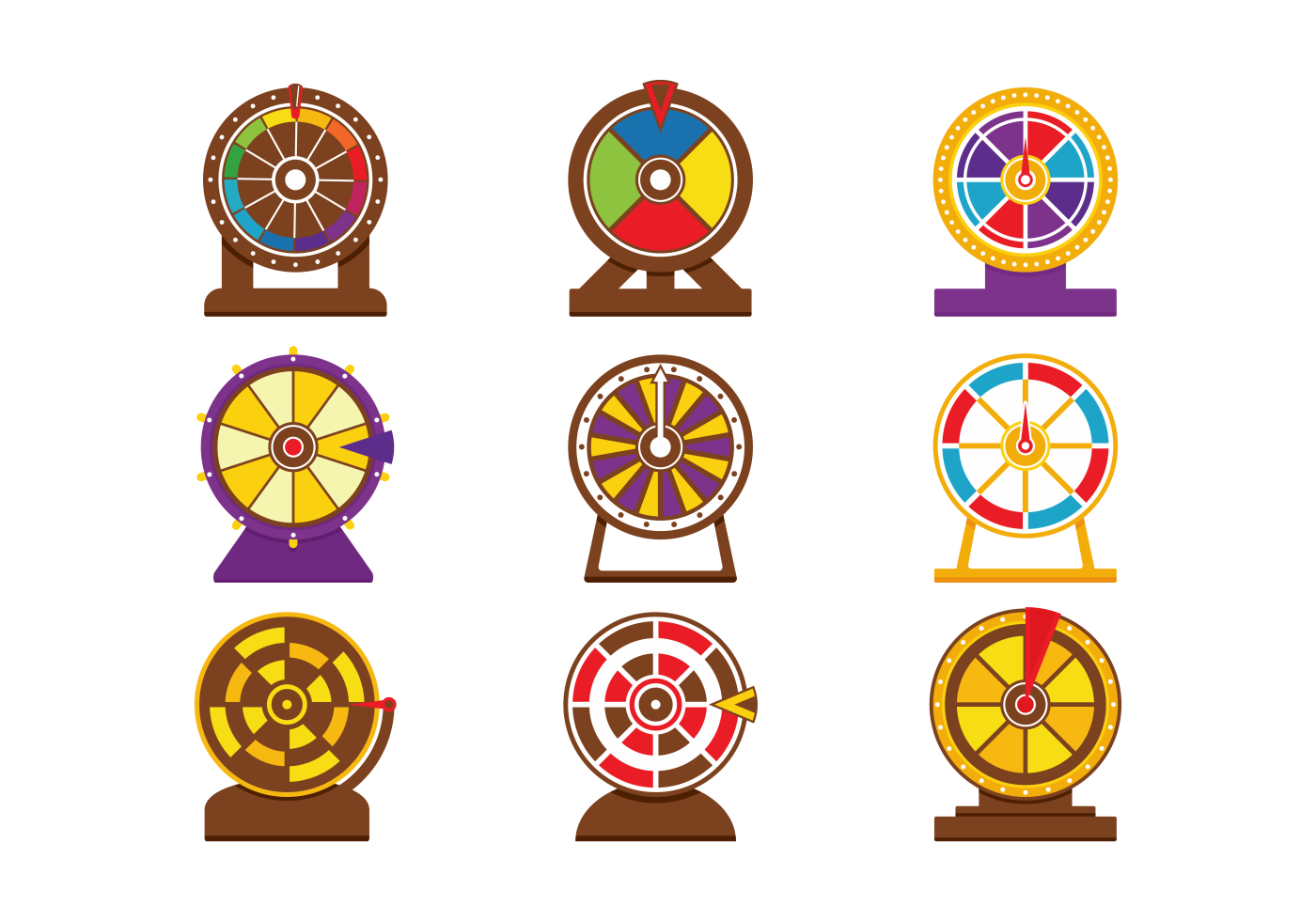 Vector Spinning Wheel Game Download Free Vectors Clipart Graphics Vector Art