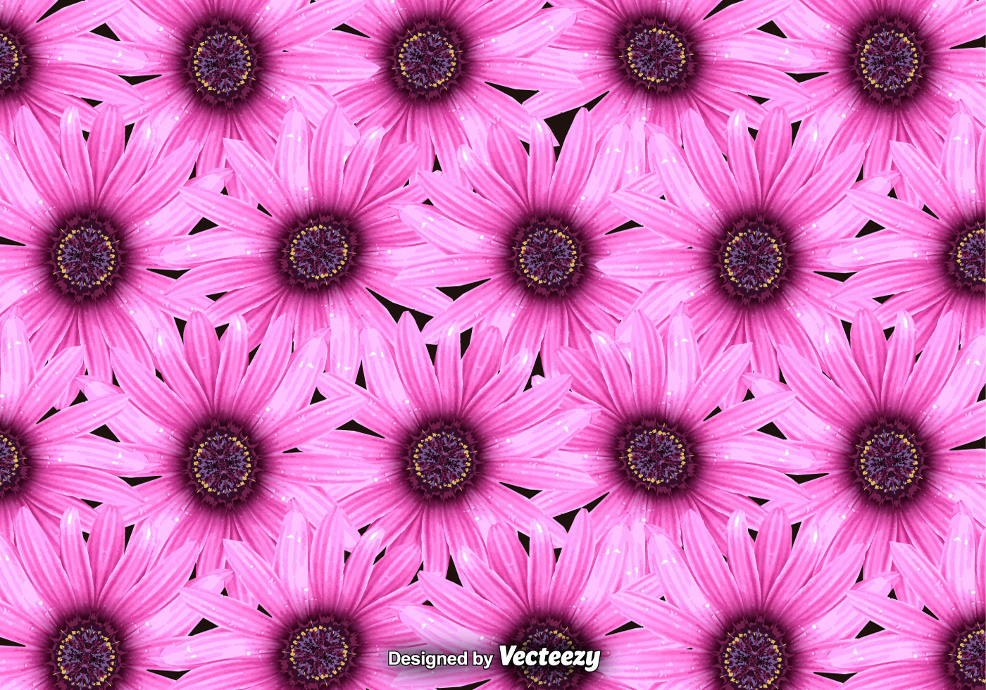 Vector Pink Flowers Background Download Free Vector Art Stock