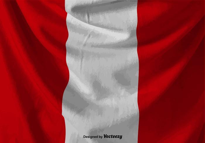 Vector enroulé Illustration du drapeau du Pérou