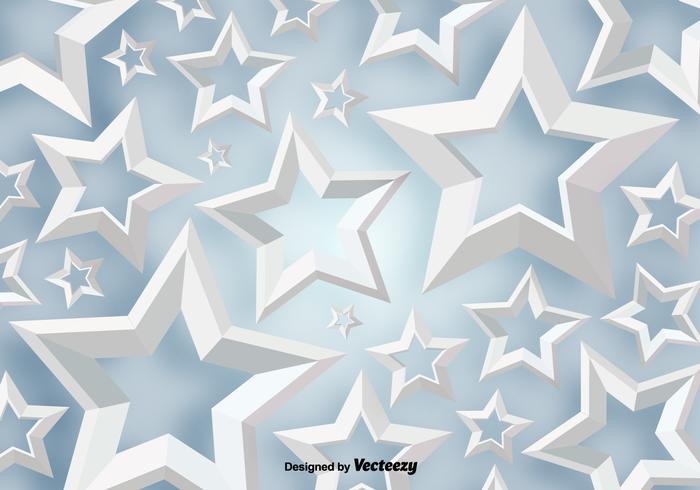 Vector 3D White Stars Background