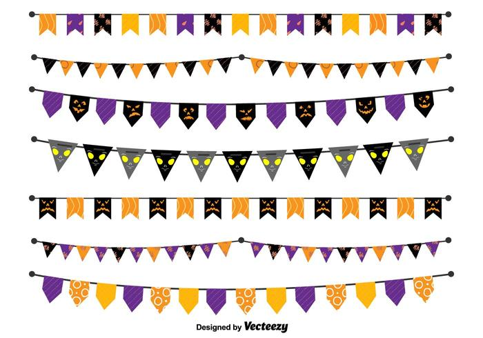 Banderines del vector de Halloween