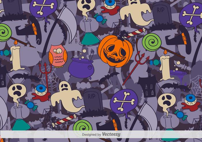 Crazy Halloween Vector Background