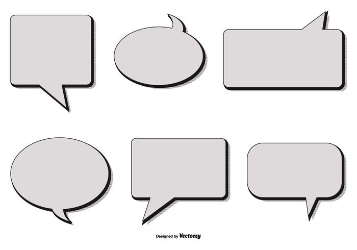 Retro Style Vector Speech Bubbles