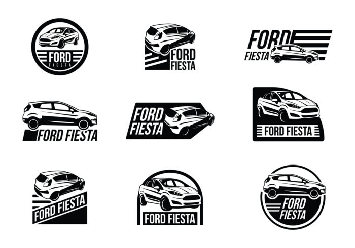 Ford Fiesta Vector Labels