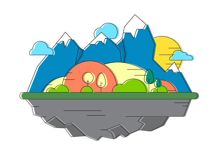 Ilustración libre del vector del paisaje