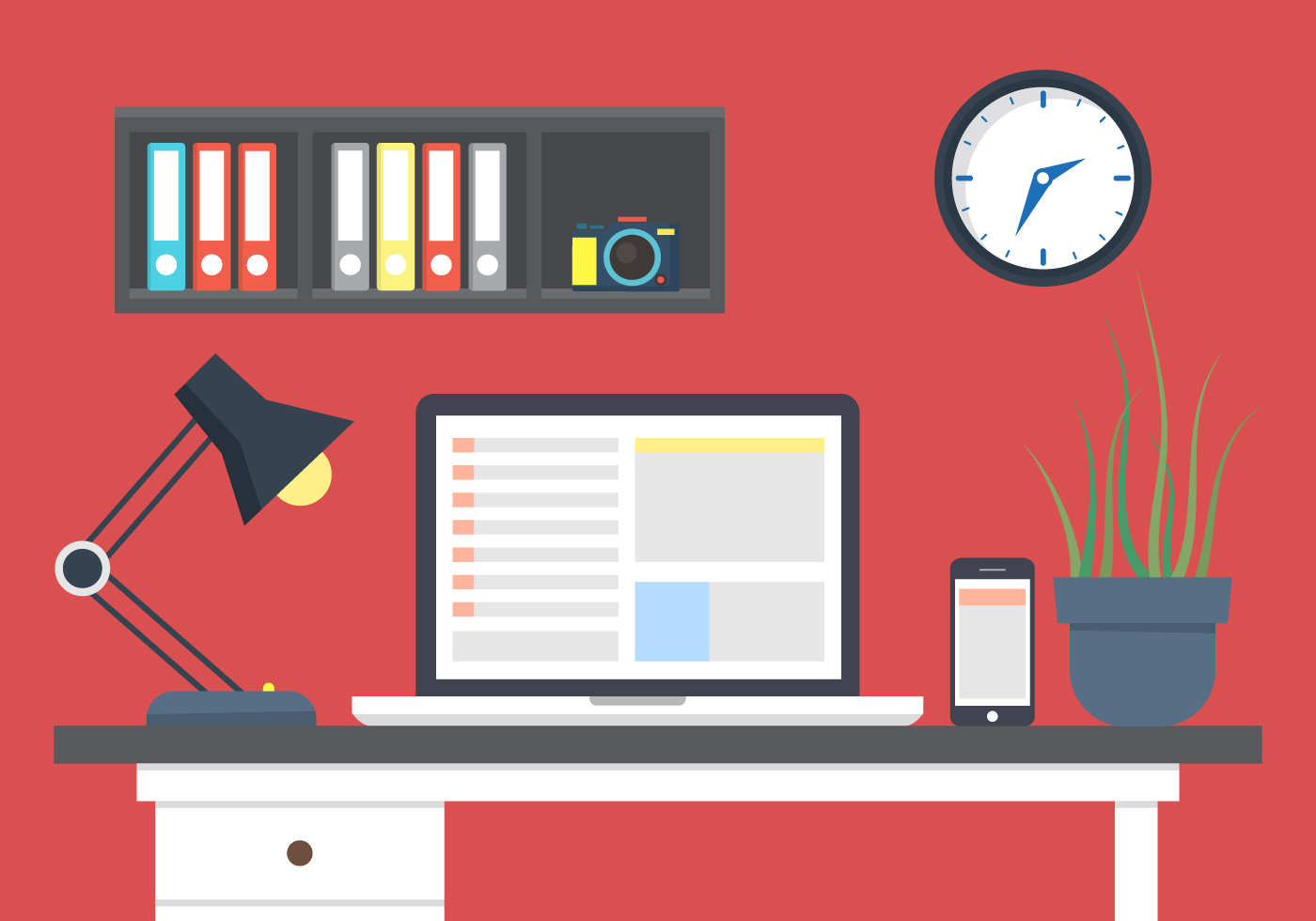 Desk free vector art 5253 free downloads for Office design vector
