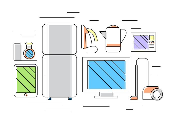 Home Appliance Vector Icons