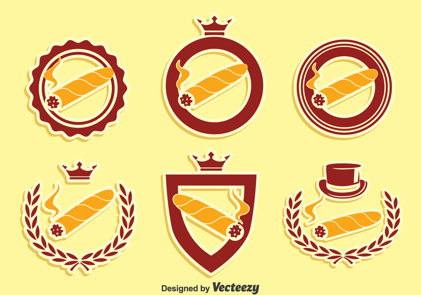 cigar label collection vector download free vector art