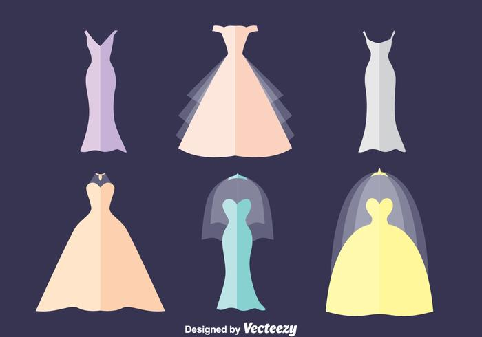 Brides Maid Flat Vector Set