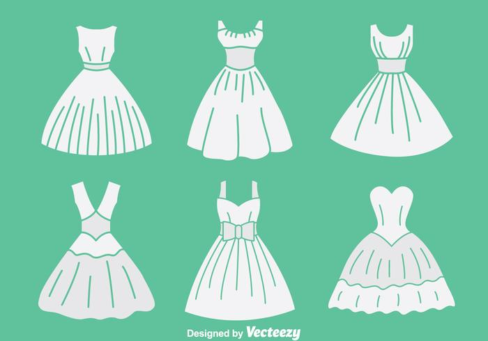 White Brides Maid Collection Vector