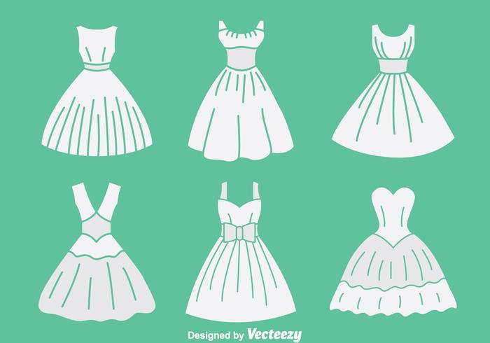 Vector blanco de la colección de la criada de las novias