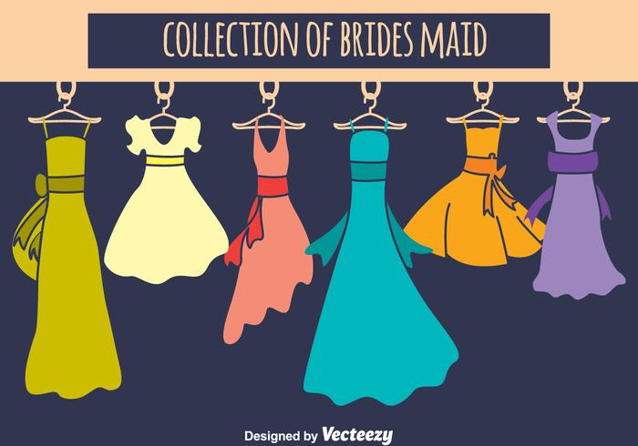 Brides Maid Collection Vector Set