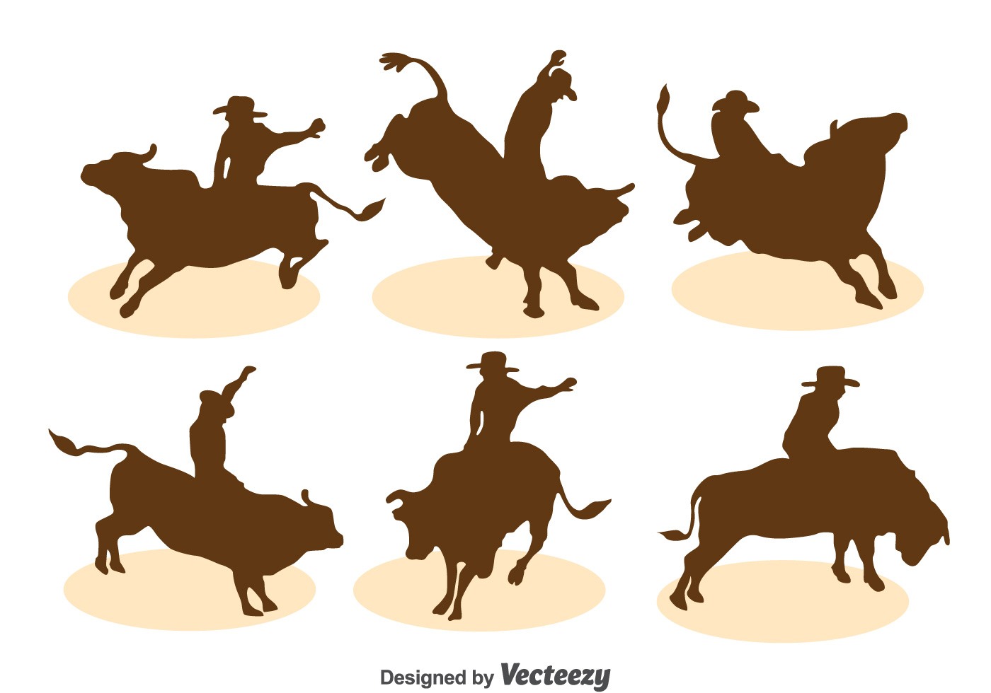 Bull Rider Silhouette Vector Set 125823 - Download Free ...