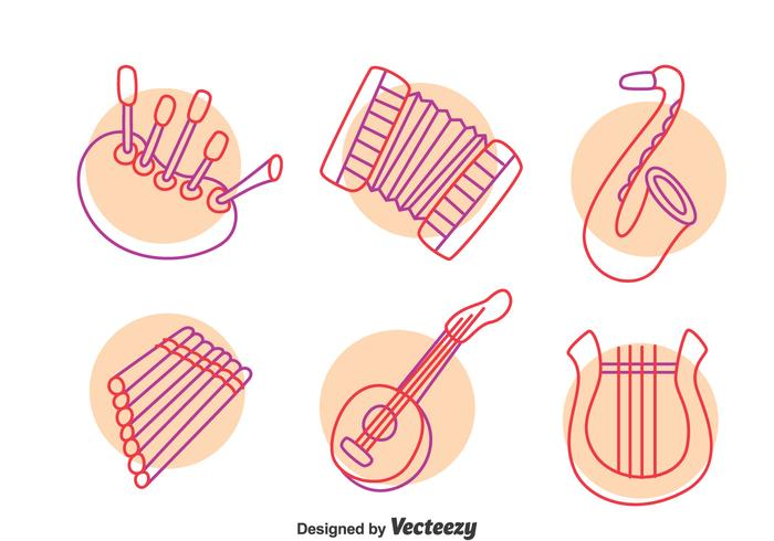 Hand Drawn Music Instrument Vector