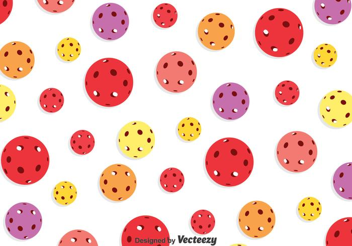 Colorful Floorball Seamless Pattern